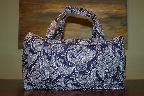 Blue Paisley Duffel Bag