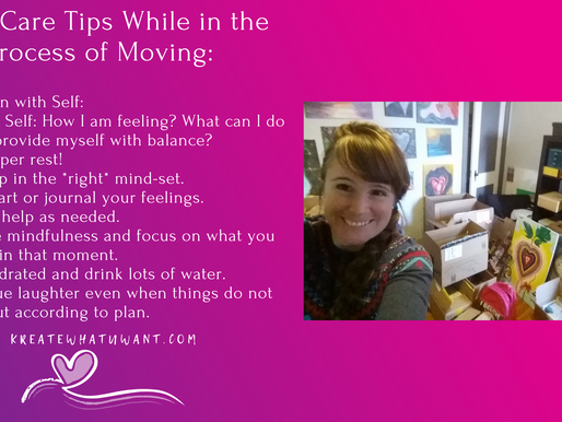 Self-Care Tips while in the Process of Moving