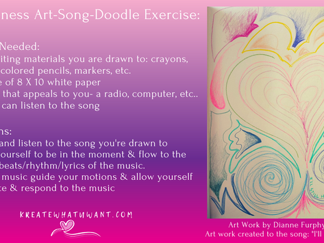 Mindfulness Art-Song-Doodle Exercise