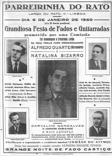 Cartaz Parreirinha do Rato 6 Janeiro 195