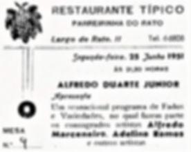 fados na Parreirinha do Rato 25.06.1951.