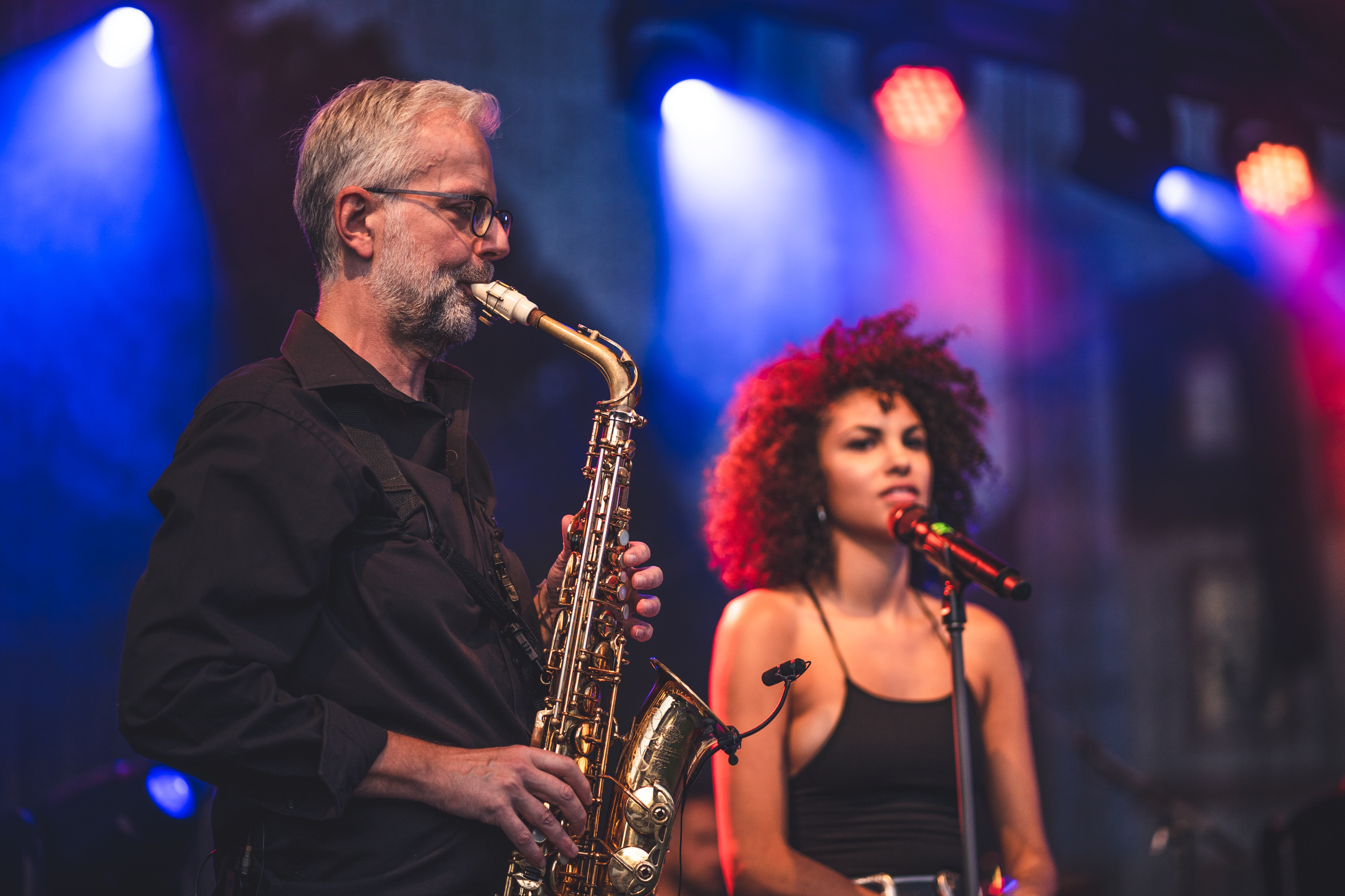 Ulli, Sax with Julianna, Skyline Club Band