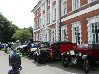 Classic cars and motorcycles at Lytham Hall