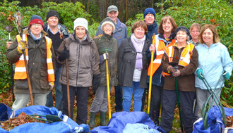 A Big thanks to our volunteer leaf removal team