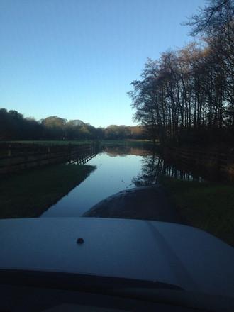 Lytham Hall flooded