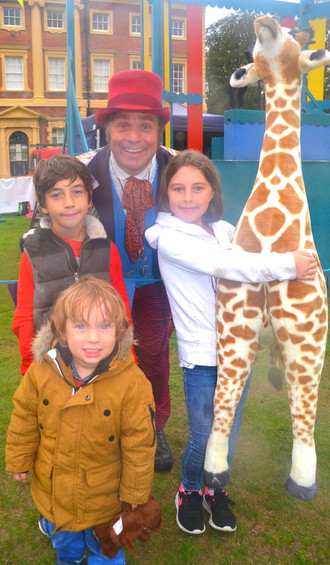 Josephine the giraffe was top of the tree as a charity fundraiser at the open air plays at Lytham Ha