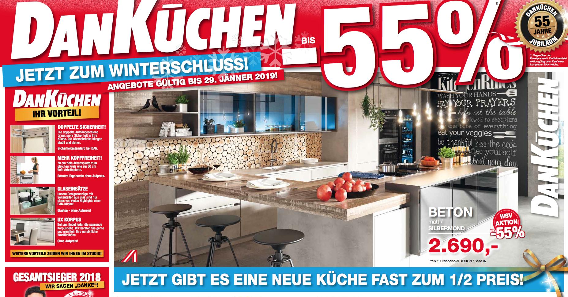55 Jahre DAN Küchen: Bis Zu  55% Rabatt Auf Ihre Neue Küche! | DAN Küchen  Studio Steyr | Modernste Küchen Auf 2 Etagen