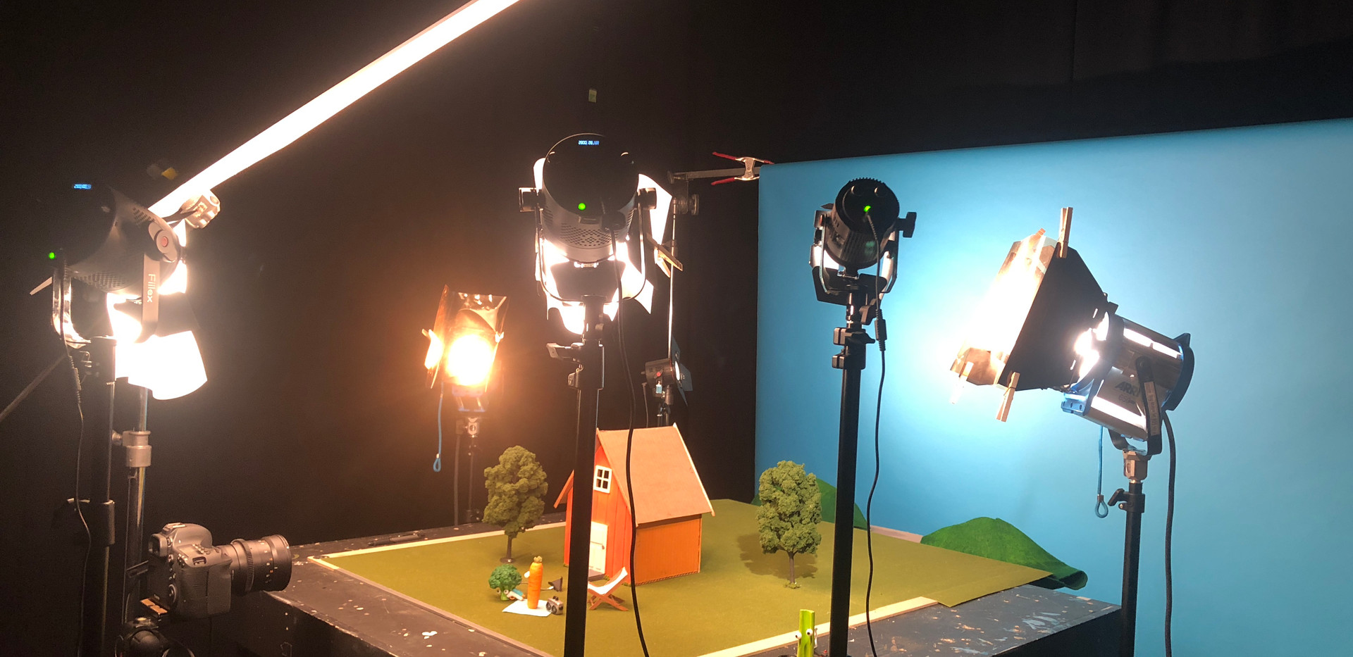 Lighting set up (six lights!)