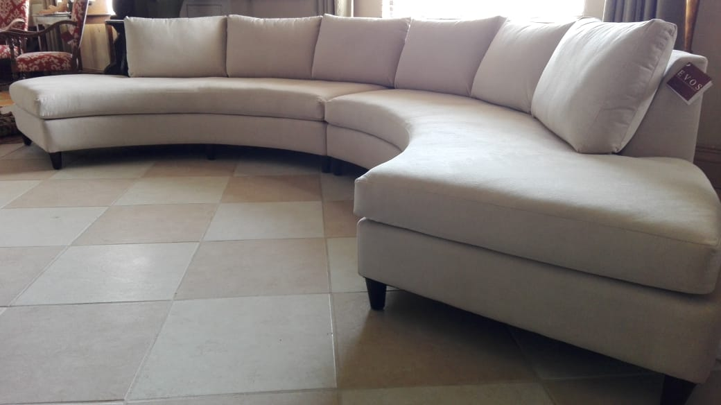 Sectional 242 R & L convex chaise