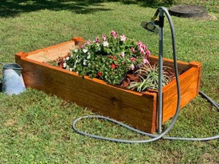Handmade Pecan Flower Box - 4X4X2X2