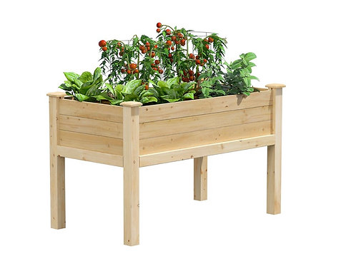 Handmade Cedar Elevated Garden Box 48 in L 24 in W X 31 in H