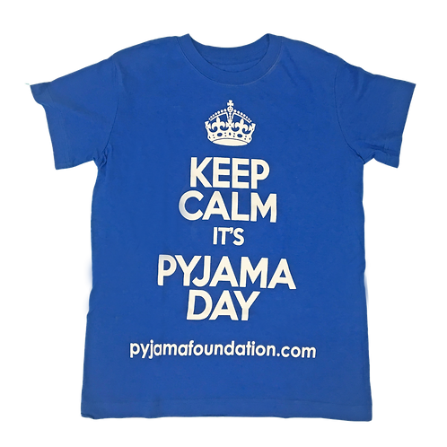 Blue Keep Calm it's Pyjama Day Tee