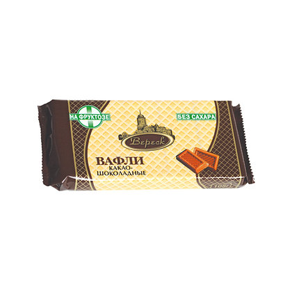 Вафли Какао-шоколад на фруктозе 105г  Вереск