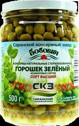 Горошек зеленый 500г ст/б Бобович Саранск *