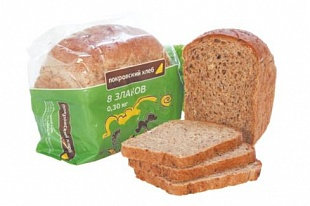 Хлеб 8 злаков (нарезка) 300гр Пермь *