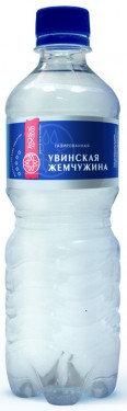 Вода  мин. прир. питьевая газ. Увинская Жемчужина 0.5л п/б