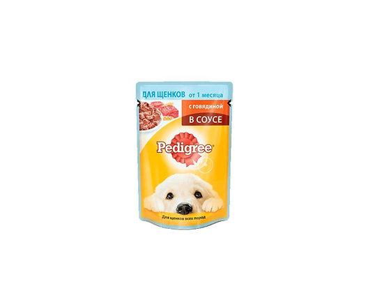 Pedigree для щенков с говядиной в соусе 85г.*