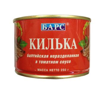 Килька балтийская в т/с 250г ключ ж/б Барс