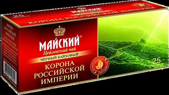Чай Корона Росс. Империи черн. 25*2г