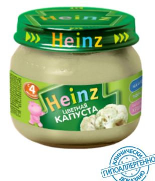 Пюре Heinz  80гр ст.б. (цв. кап) *