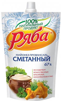 Майонез Ряба Сметанный 233г 67% ДПД