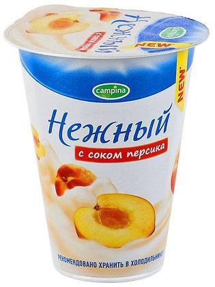 Йогурт. прод. с соком абрикоса и манго Нежный 1.2% 320г стак. Campina