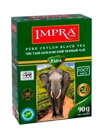 Чай ИМПРА черный цейлон. мелколист. 90г.*