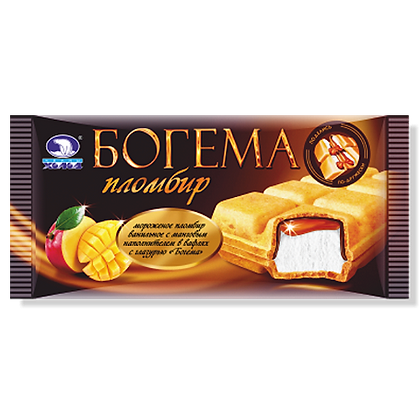 Брикет Богема манго на вафлях с шок. гл. 75г *