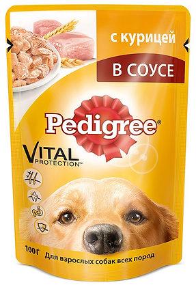 Pedigree с ягнёнком в желе для взрос. собак 100г .*