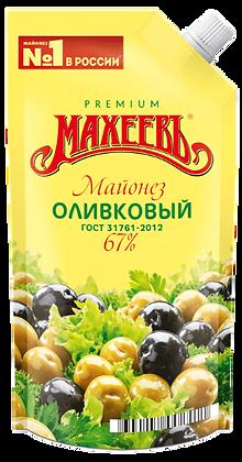 Майонез МАХЕЕВЪ Оливковый 67% 190г дой-пак