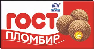 ГОСТ (красный) пломбир шоколадный 180гр брикет Иж *