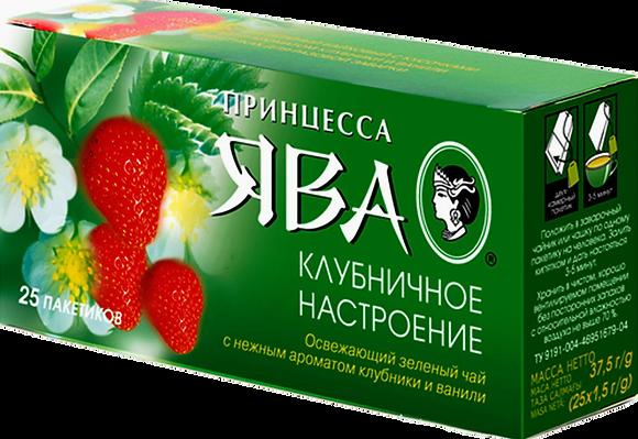 Чай Принцесса Java зел. с аром. клубники и ванили 25п*1.5г *