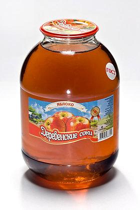 Нектар Яблочный осв. 3л. ст/б Деревенские соки *