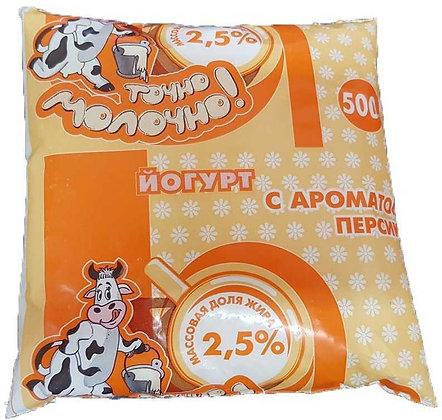Йогурт с ар. персика 2.5% 500г Чернушка