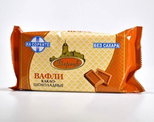 Вафли Какао-шоколад на сорбите 105г  Вереск