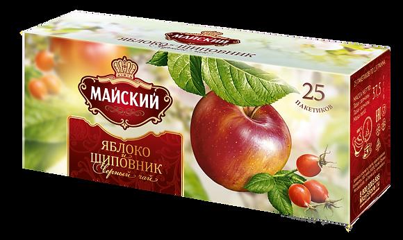 Чай Майский Яблоко шиповник. черн 25пак*2гр.*