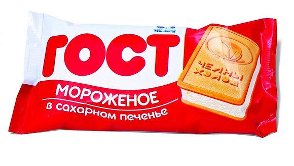 Брикет Пломбир ГОСТ на печенье 100гр ЧХ