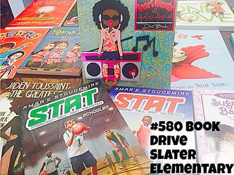 We collected almost 2000 books for Slater Elementary!