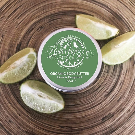 Organic Double Whipped Lime and Bergamot Body Butter