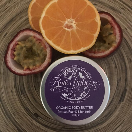 Organic Double Whipped Passion Fruit and Mandarin Body Butter