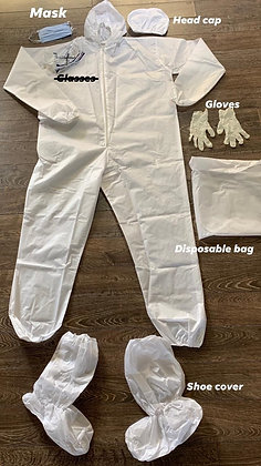 PPE Full Body Suits (Excluding Goggles/ Face Shield) - 5 pcs