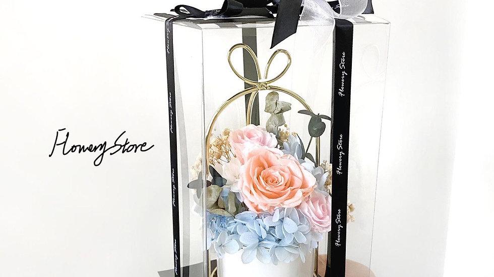 柔和淺色系金屬花盆