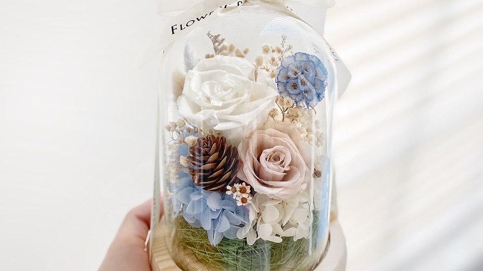 白卡其玫瑰草原玻璃瓶
