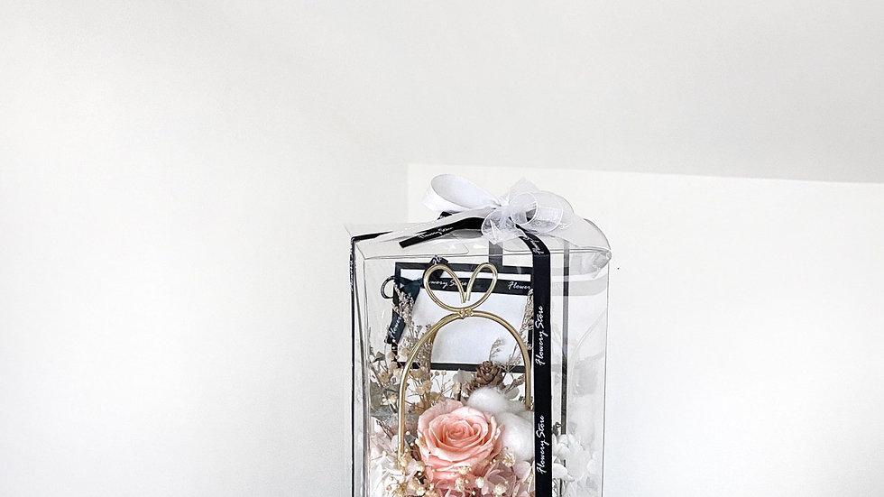 香檳玫瑰金屬花盆