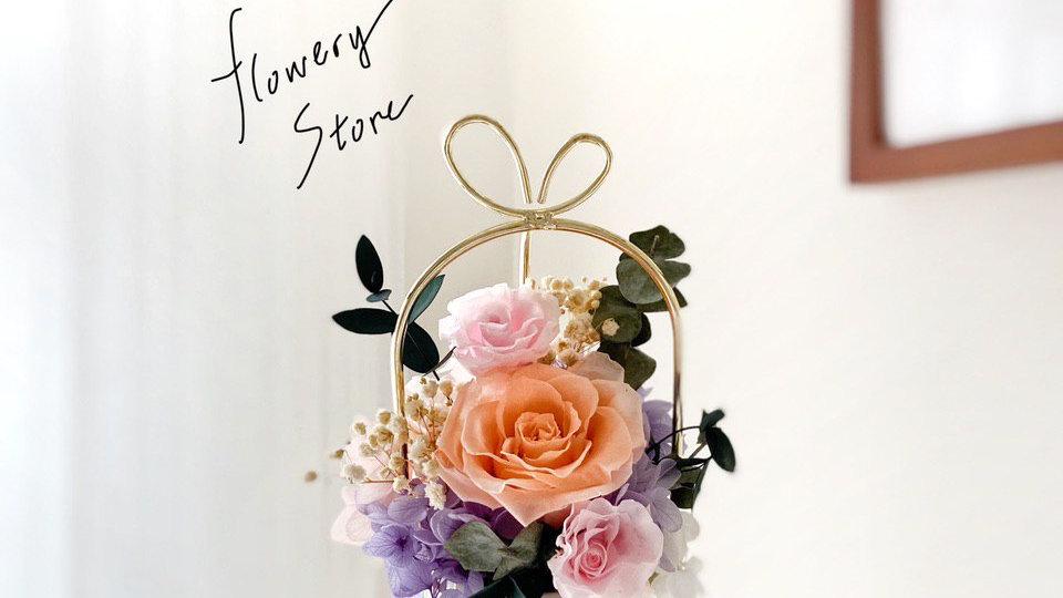 香檳玫瑰紫色金屬花盆