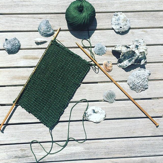 KNITTING THE NEW SUMMER BREEZE COLLECTION IN THE SUN