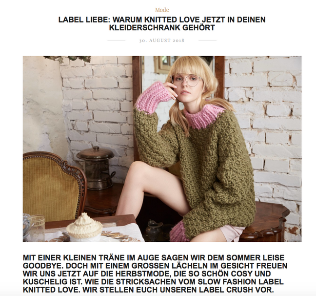 WHAT WE LOVE: KNITTED-LOVE Coffee Club collection