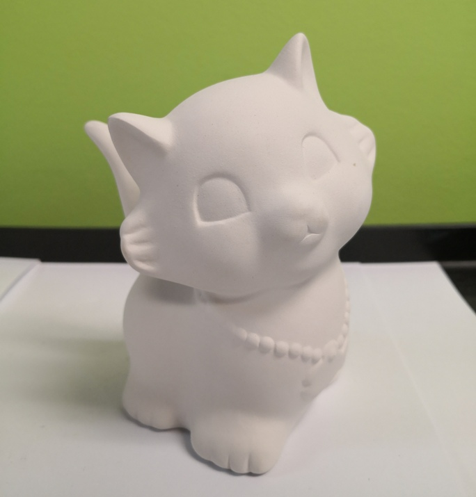 Kitty with Necklace Money Box