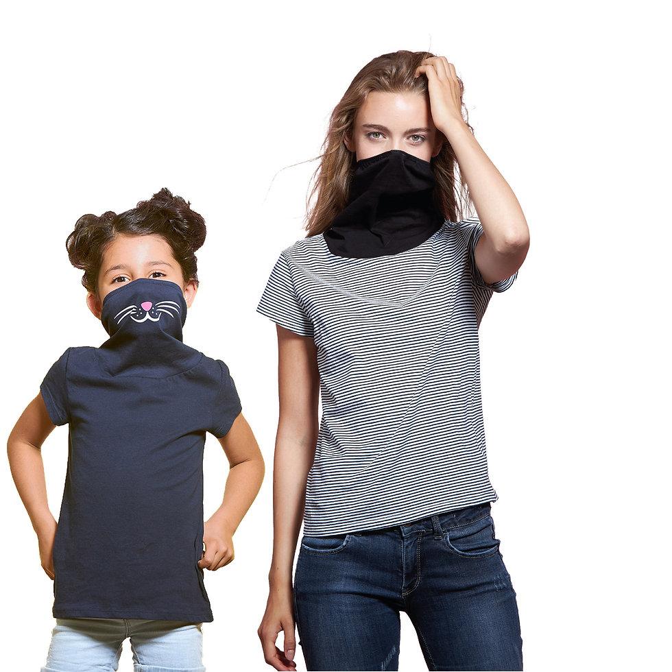 monocs® - Girls having fun with mask shirts.