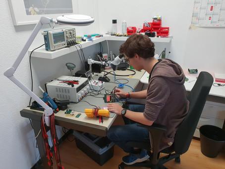 Arbeiten bei Arend (09/18): Praktikant Tim in der F&E